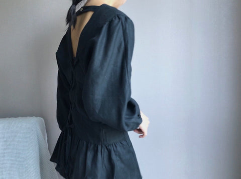 Angel Blouse in Black (Also available in Oatmeal) (90,000원)