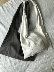 Linen Square Bag in Ivory (Also available in Charcoal) (44,000원)