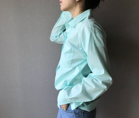 Basic Pastel Shirts in Mint (Also available in Lemon and Pink) (34,000원)