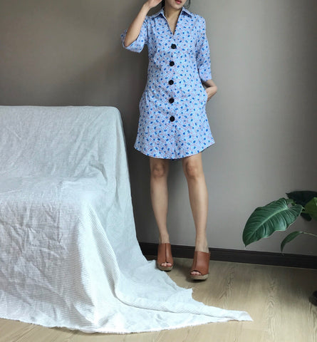 Shirt Dress in Sky Blue (86,000원)