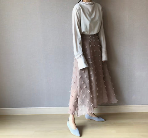 Blossom Skirt in Taupe (72,000원)