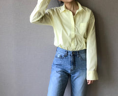 Basic Pastel Shirts in Lemon (Also available in Mint and Pink) (34,000원)
