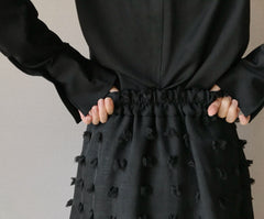 Blossom Skirt in Black (72,000원)