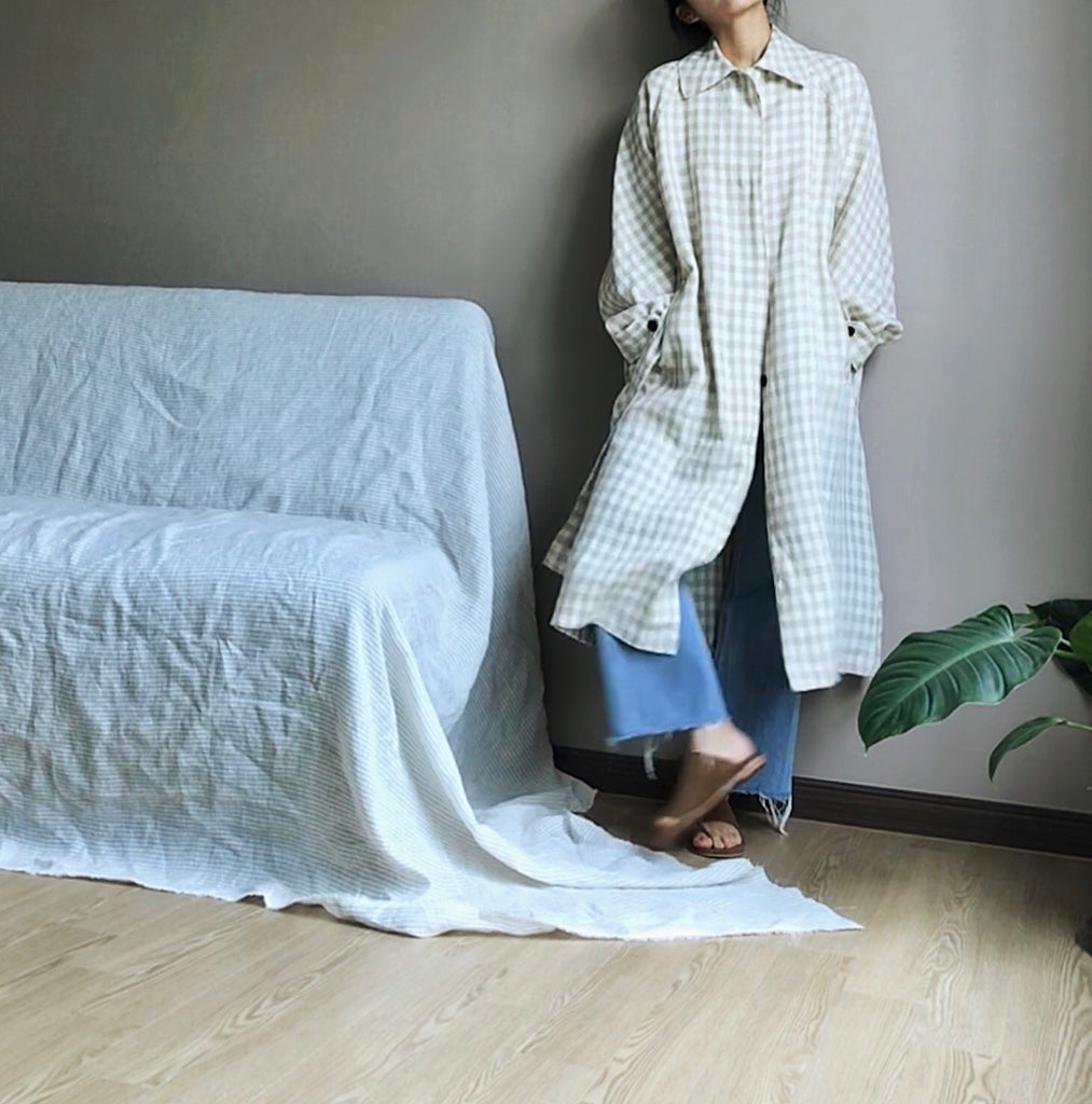 Linen Gingham Outer (138,000원)