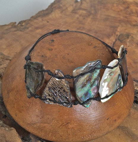 Adjustable Paua bracelet