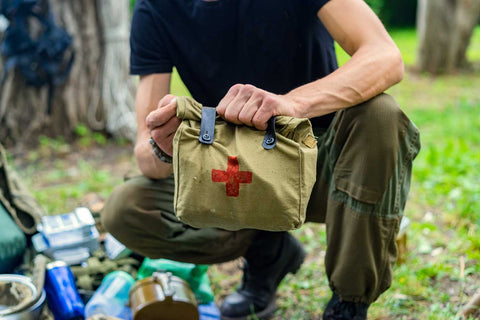 filling your bug out bags with food, water and medical supplies