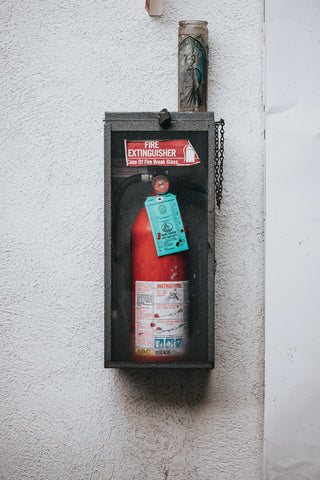 fire extinguisher to bash your enemy with