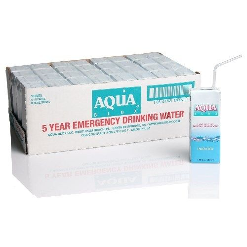 Aqua Blox Emergency Drinking Water - Two Cases of 32 Units Each