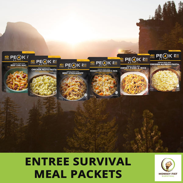 2 Peak Refuel Premium Freeze-Dried Survival Meals