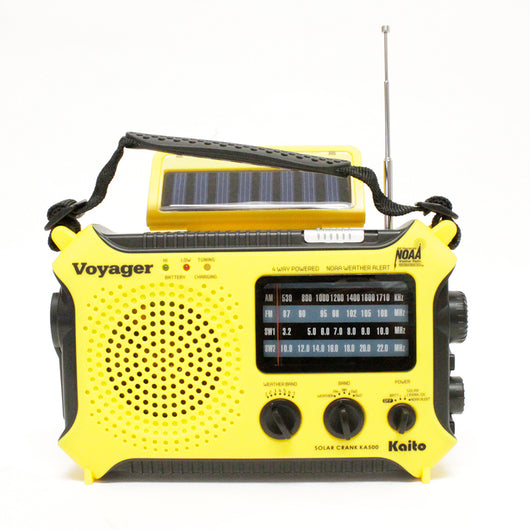 Voyager Solar Radio/Flashlight/Cellphone Charger