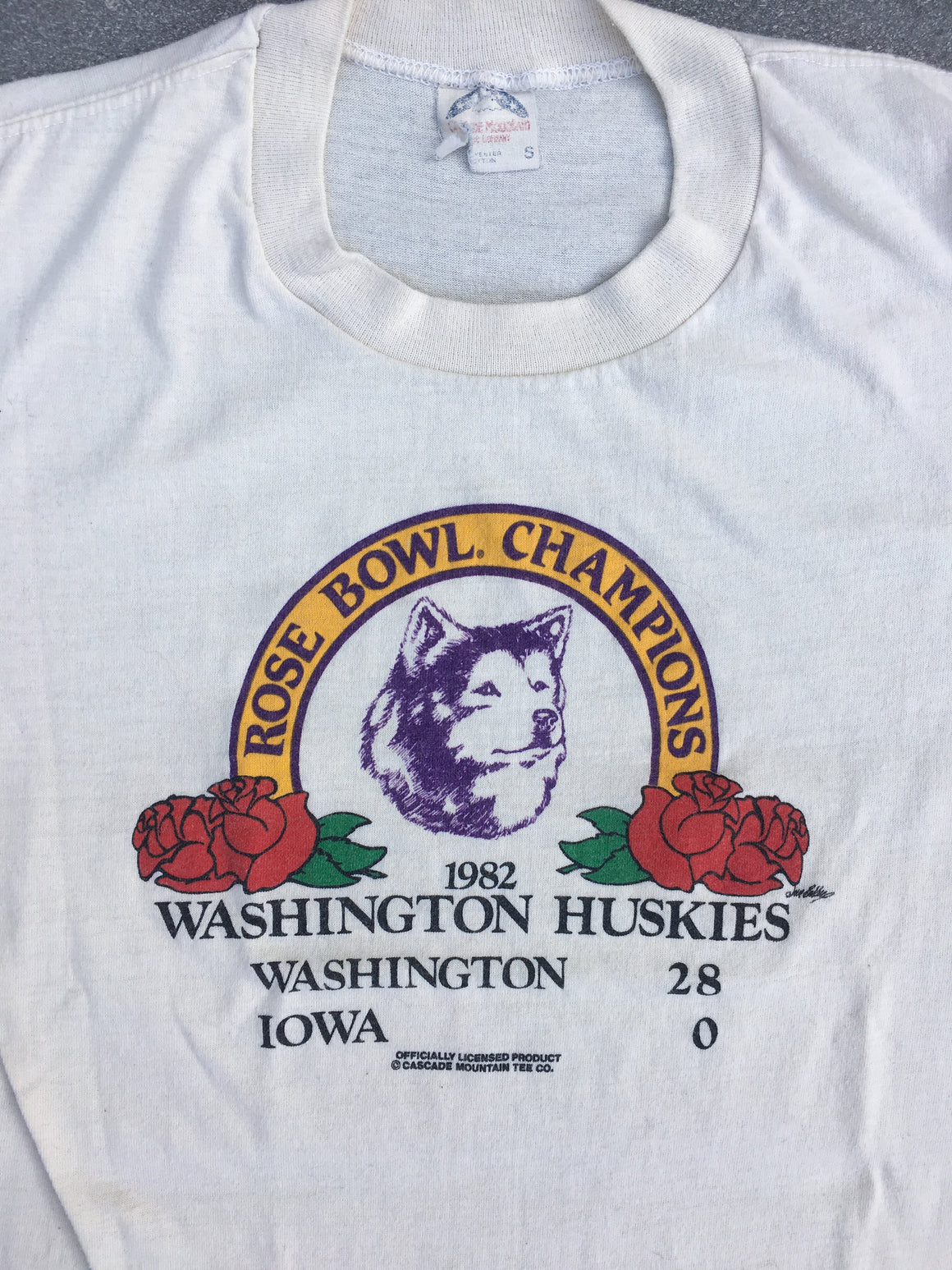 Washington Huskies 1982 Rose Bowl shirt - S