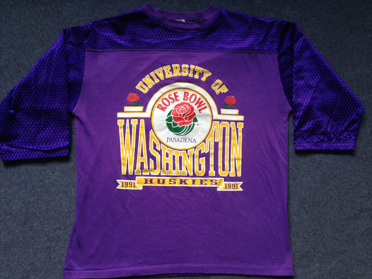 Washington Huskies 1991 Rose Bowl shirt - L