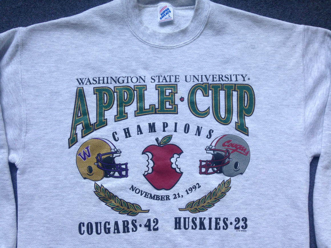 1992 Apple Cup WSU Cougars sweatshirt - L