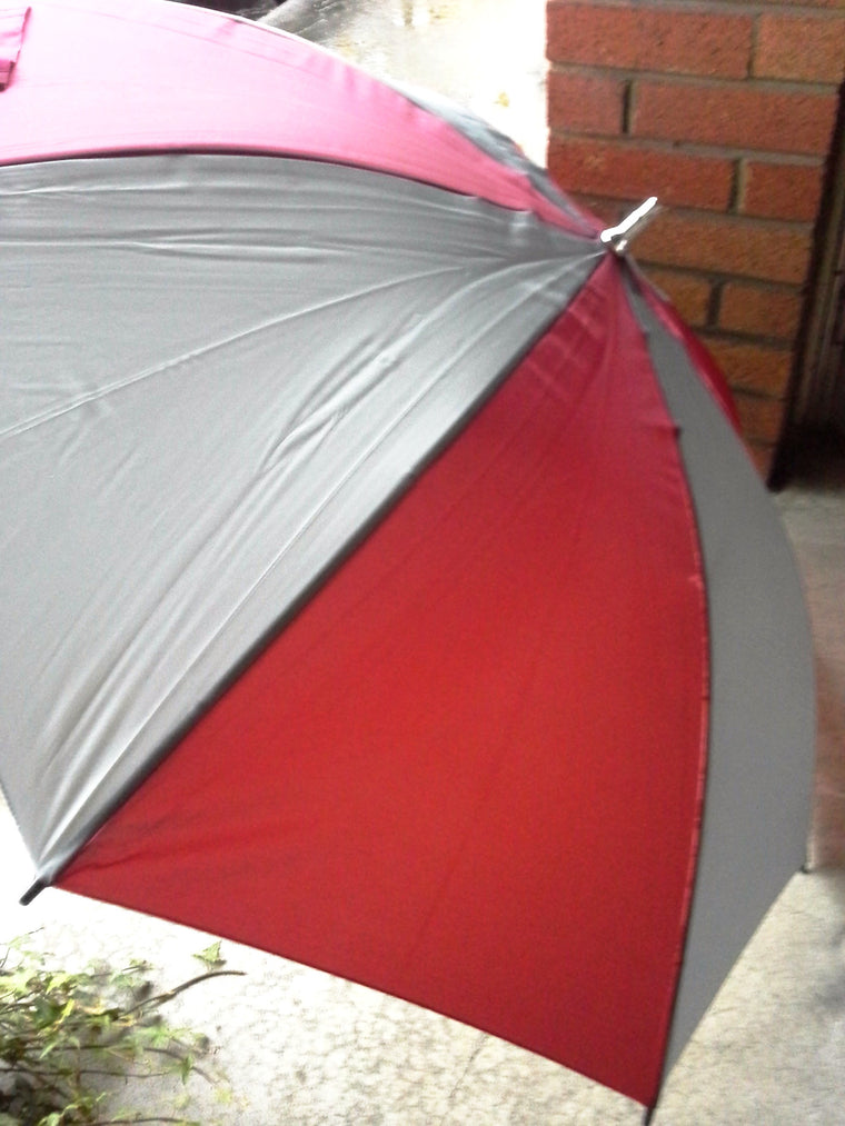 WSU Cougars umbrella -- crimson & gray