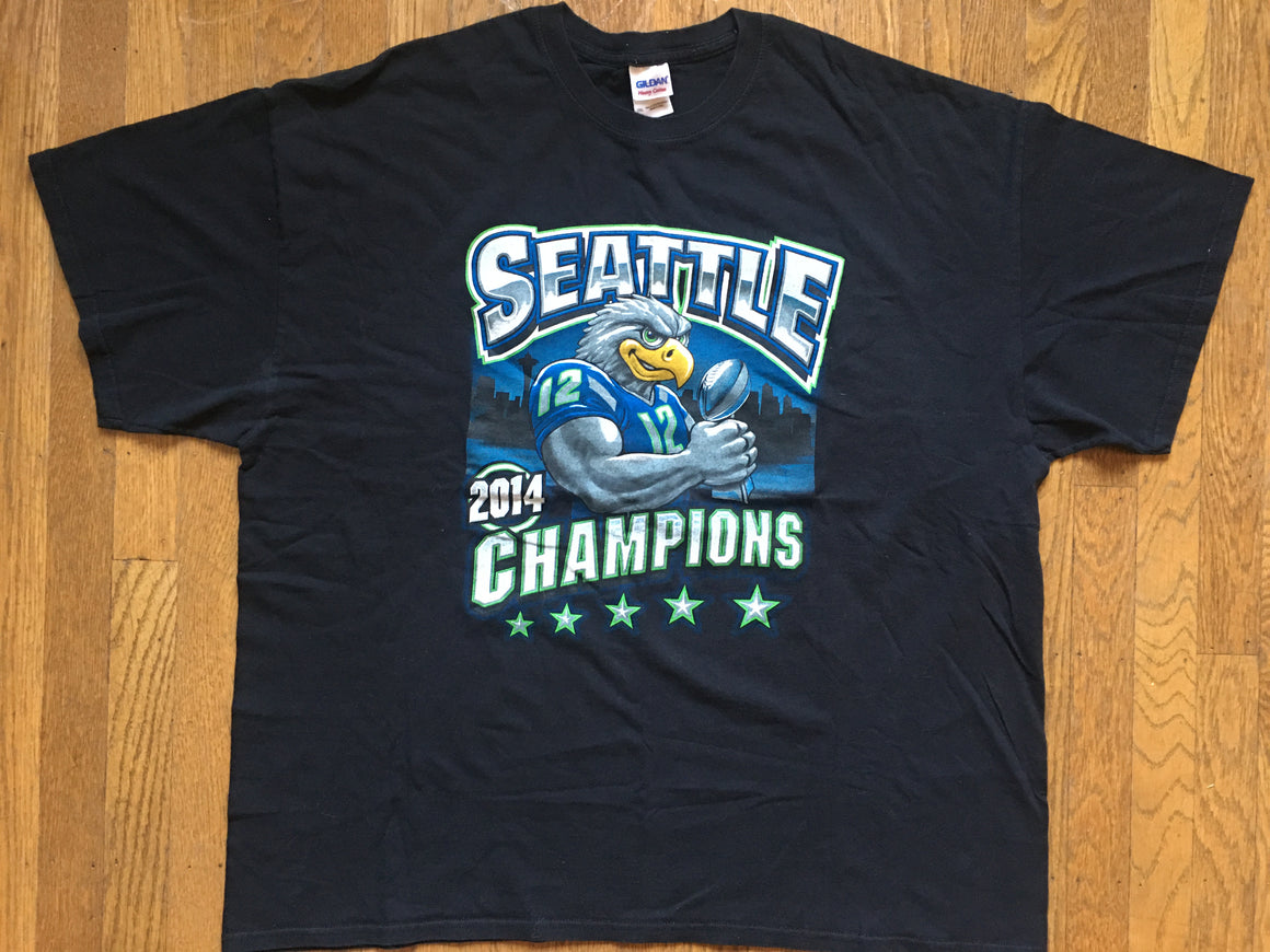 2014 Super Bowl Seattle Seahawks t shirt- 2XL