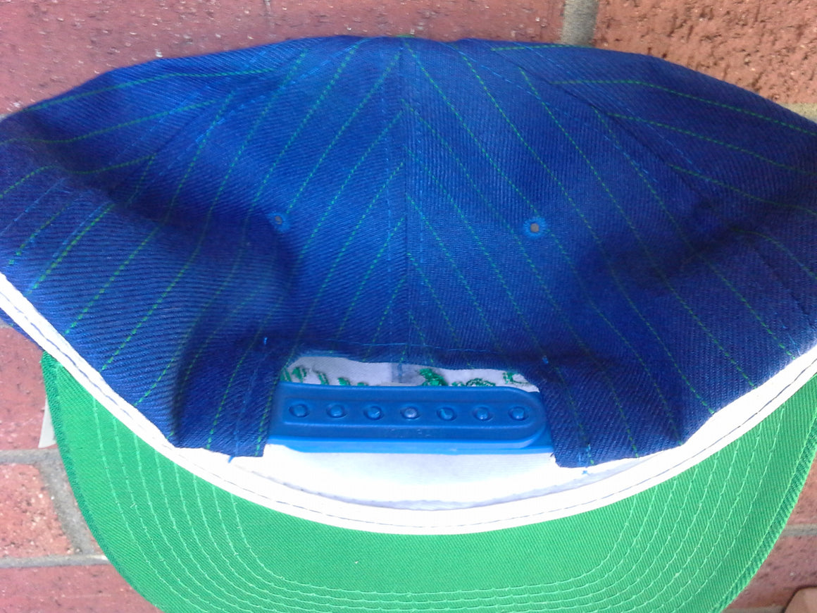 Vintage RARE NWT Seattle Seahawks pinstripe snapback hat by Sports Specialties