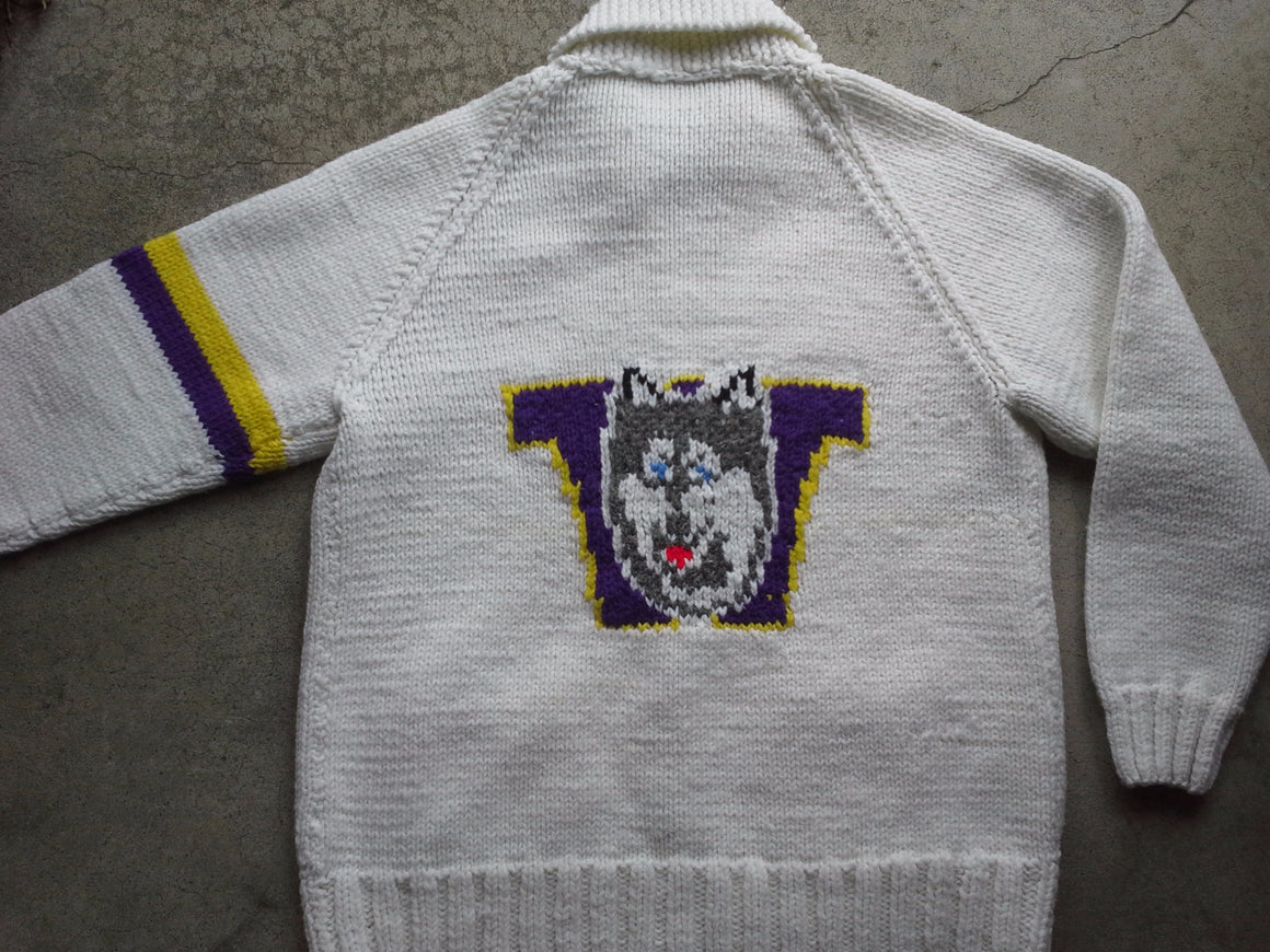 Vintage Washington Huskies varsity sweater - L