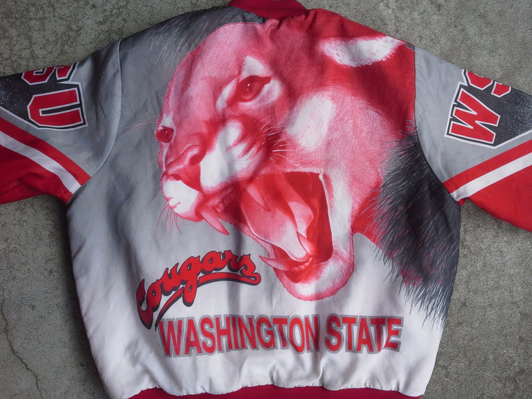 Vintage RARE Washington State Cougars Fanimation Jacket by Chalk Line - L