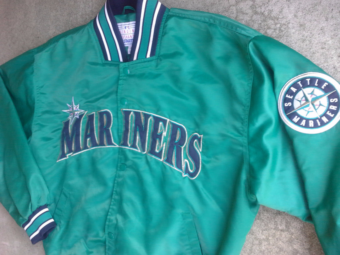 Vintage RARE Seattle Mariners satin jacket by Starter - M