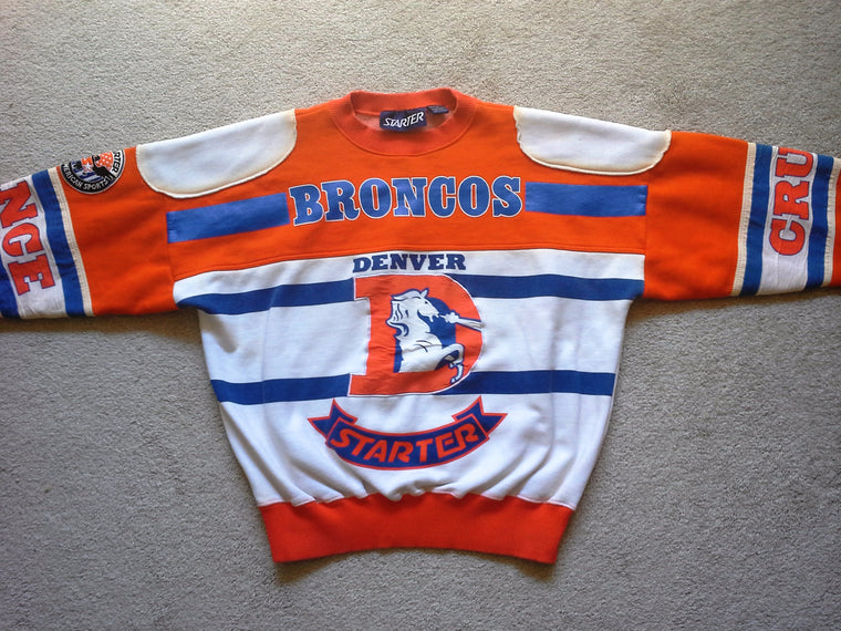 Vintage RARE Denver Broncos 80s graphic sweatshirt by Starter - L