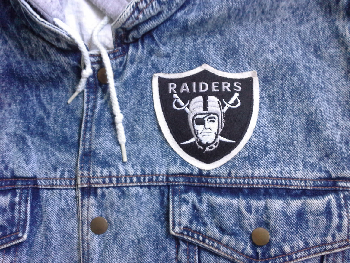 Vintage Los Angeles Raiders denim vest - L