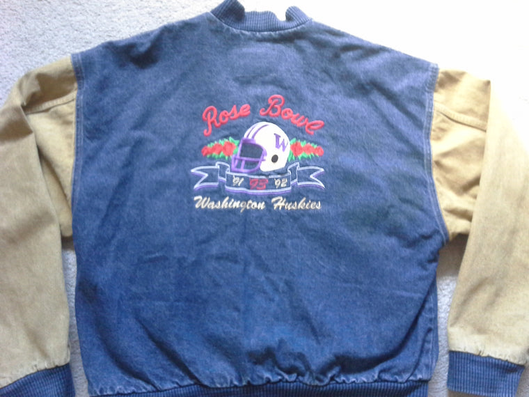 Washington Huskies 1993 ROSE BOWL denim jacket - L