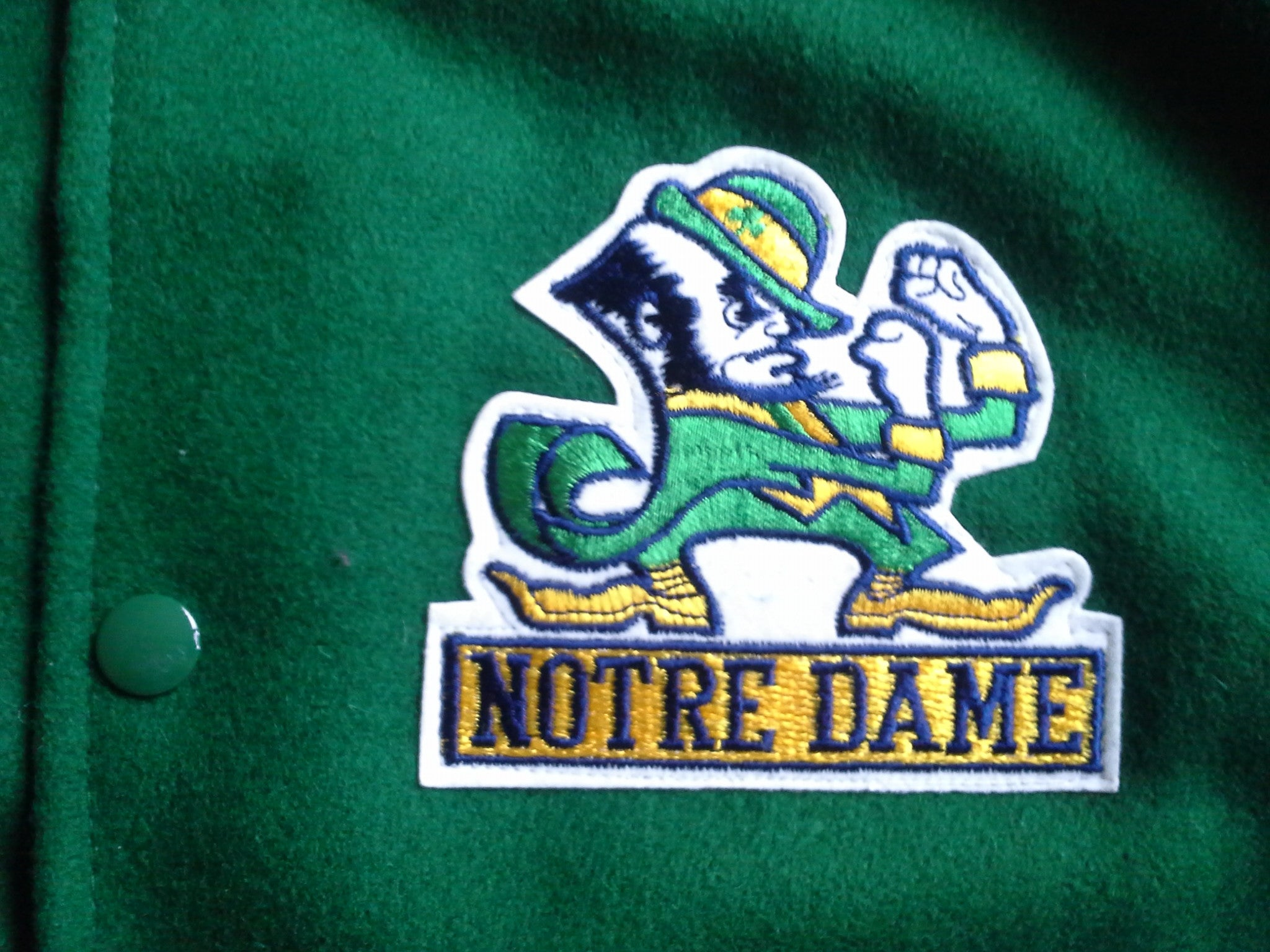 Notre Dame Fighting Irish letterman varsity jacket XL