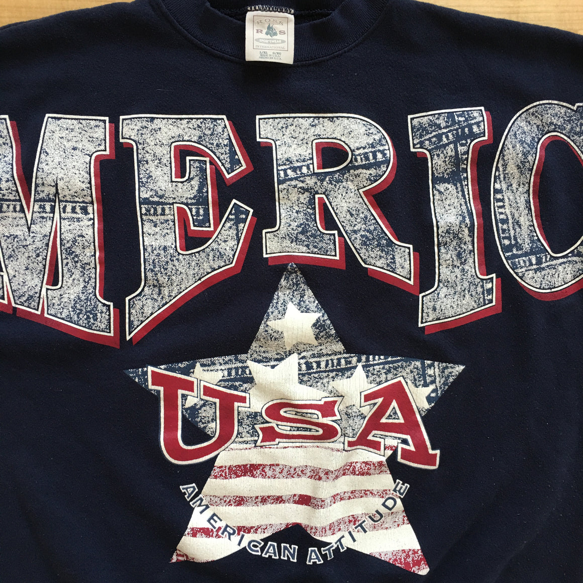 "AMERICA ""denim"" sweatshirt - L / XL"