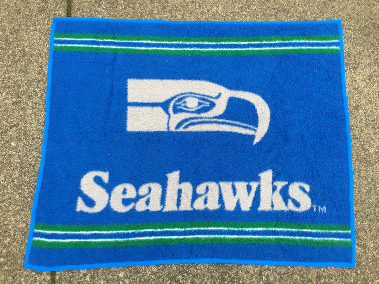 Vintage Seattle Seahawks blanket