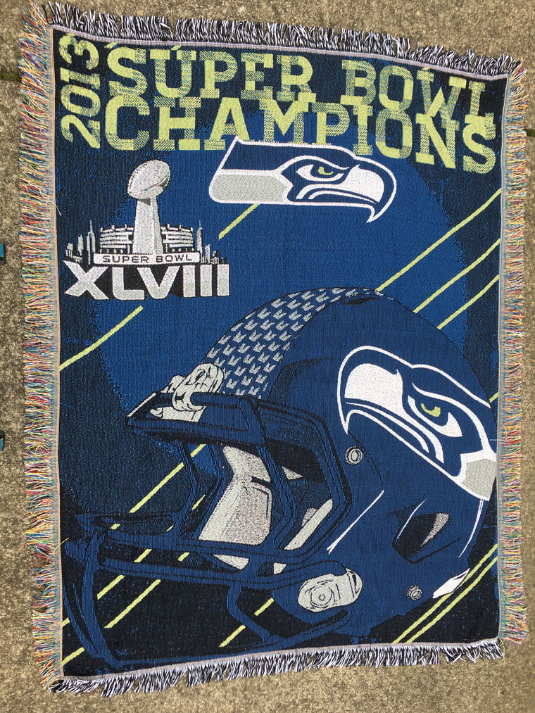 Seattle Seahawks Super Bowl champions blanket