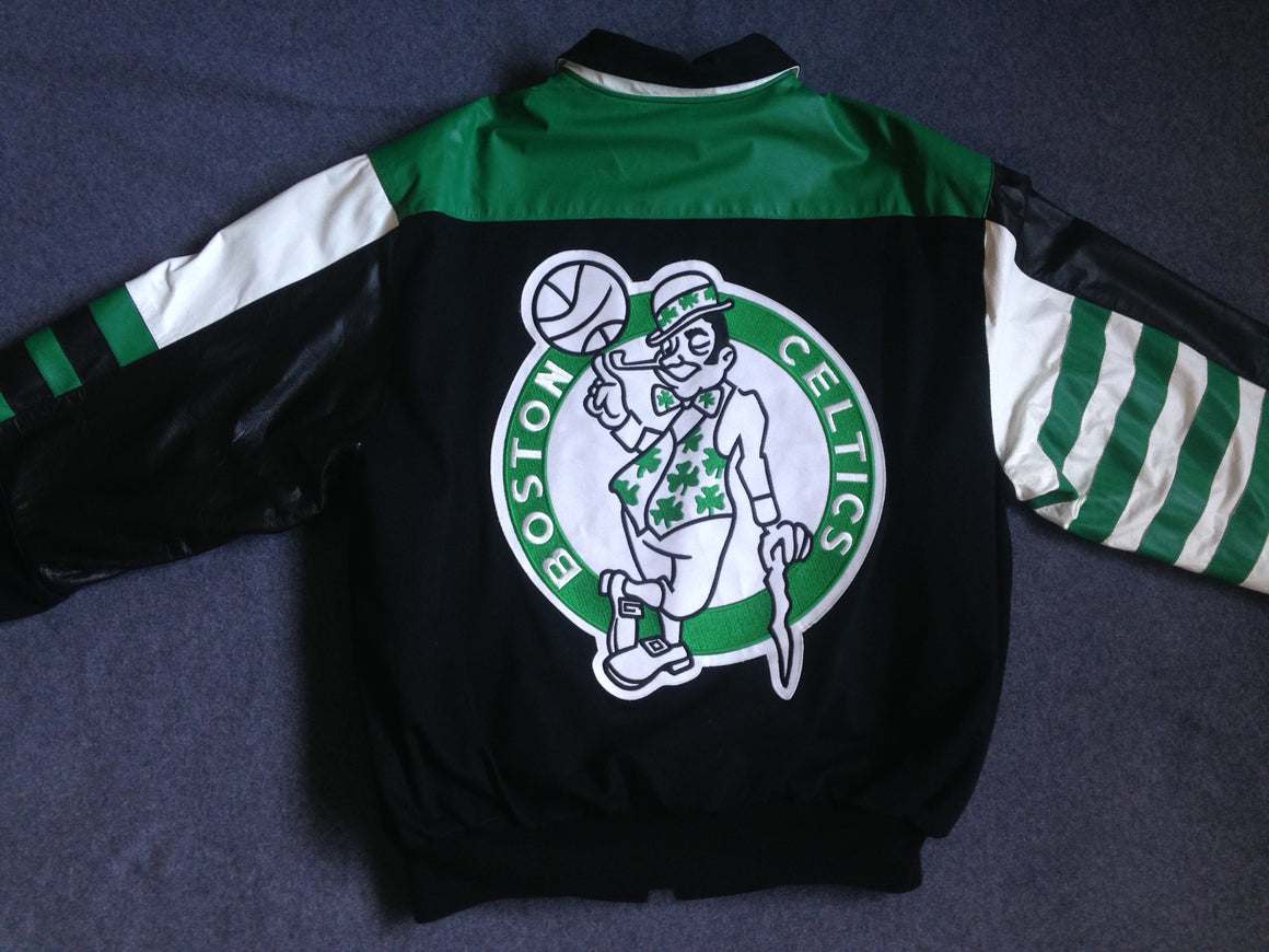 Vintage 90s Boston Celtics jacket by Jeff Hamilton - XL