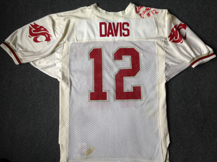 WSU Cougars Chad Davis signed jersey - size 44