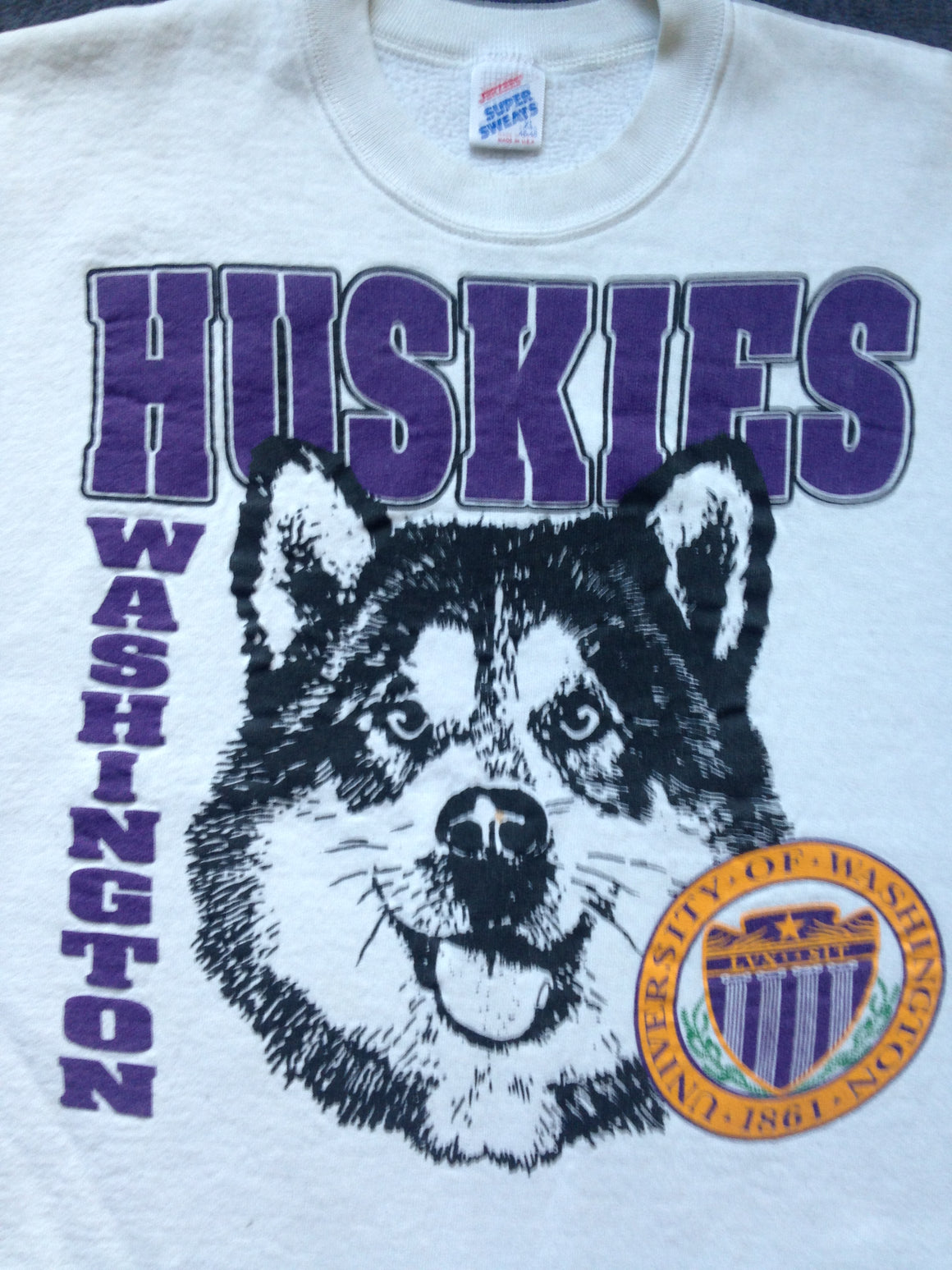 Washington Huskies cutoff sweatshirt - XL
