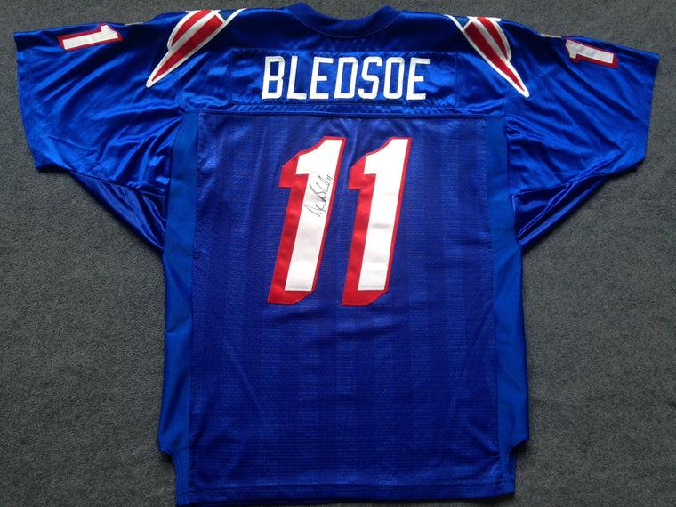 New England Patriots Drew Bledsoe SIGNED jersey - XL