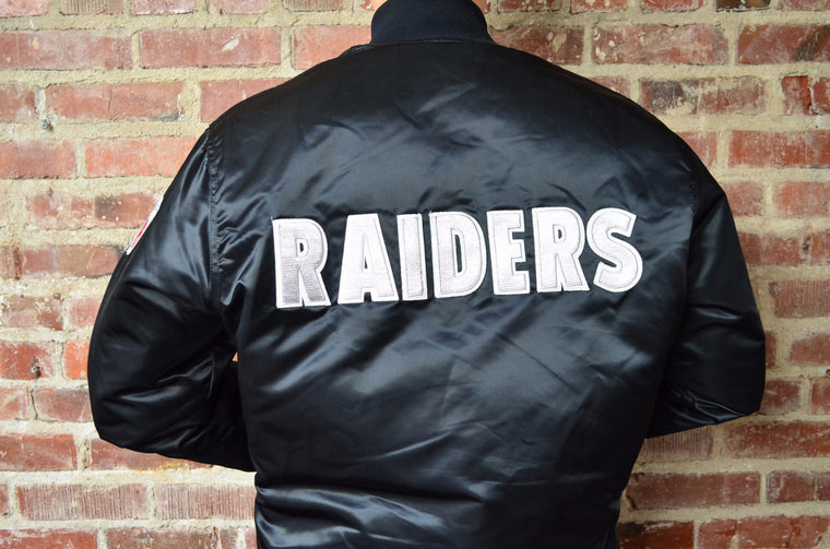 Vintage Los Angeles Raiders satin jacket by Starter - RARE XL TALL