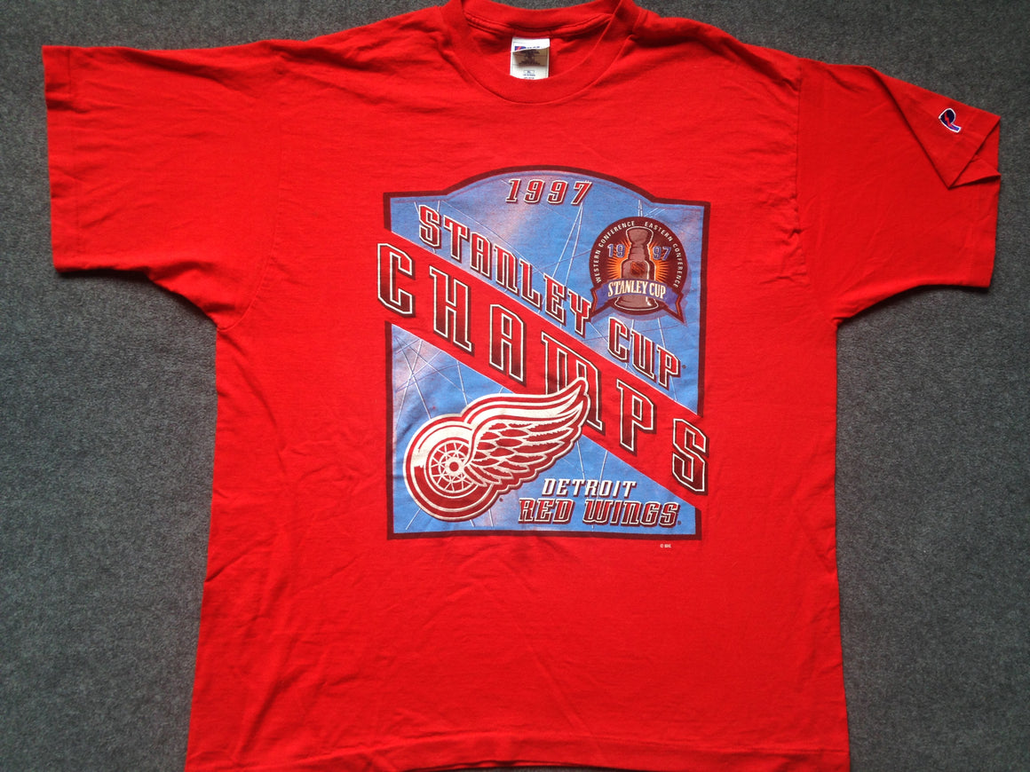 1997 Detroit Red Wings Champions shirt - XL