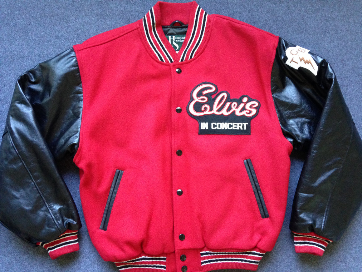 Elvis in Concert tour varsity jacket - S