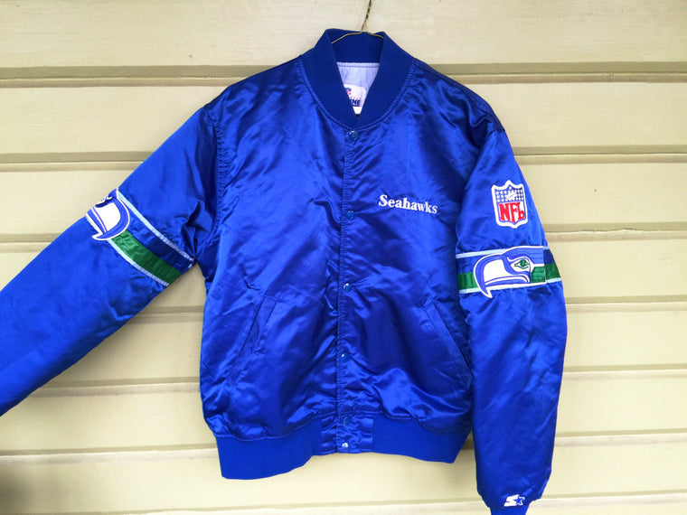 Vintage Seattle Seahawks Starter satin jacket - L