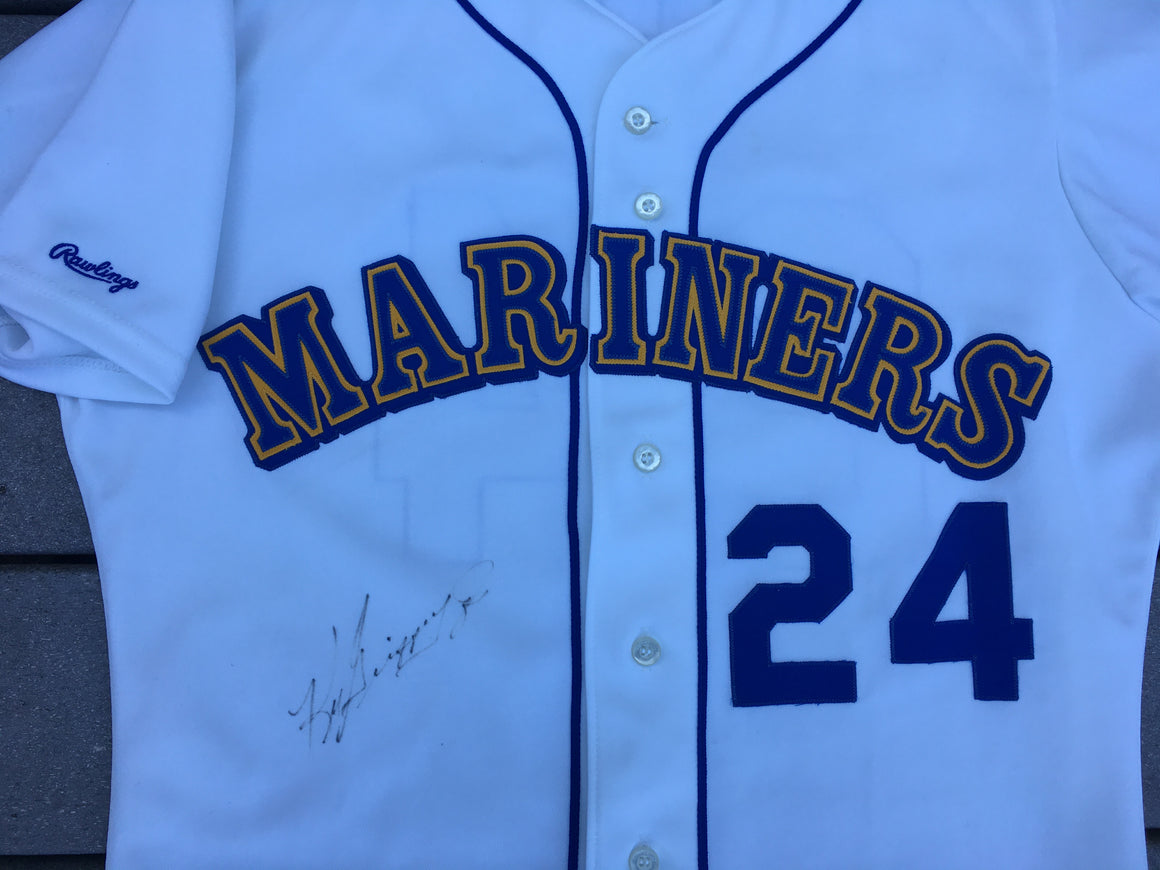 Signed Ken Griffey Jr Seattle Mariners rookie jersey