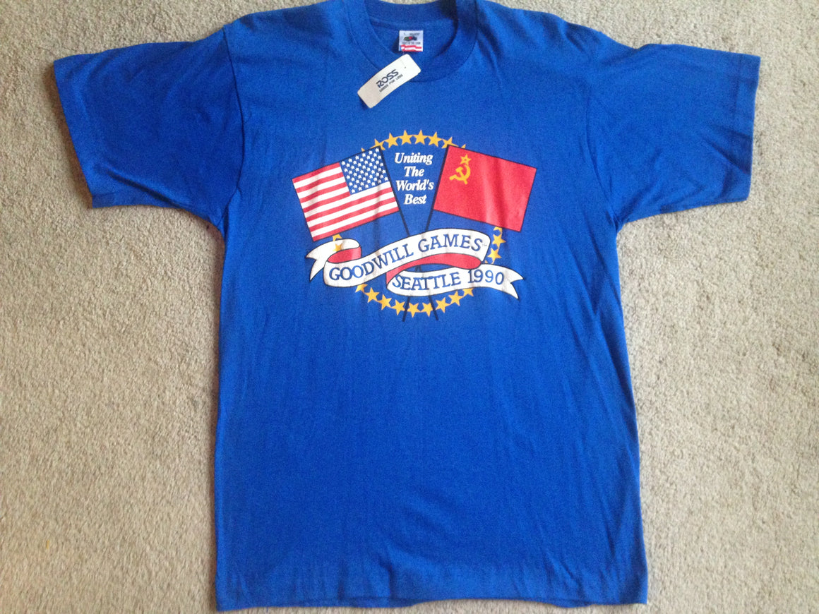 1990 Seattle Goodwill Games T shirt - L