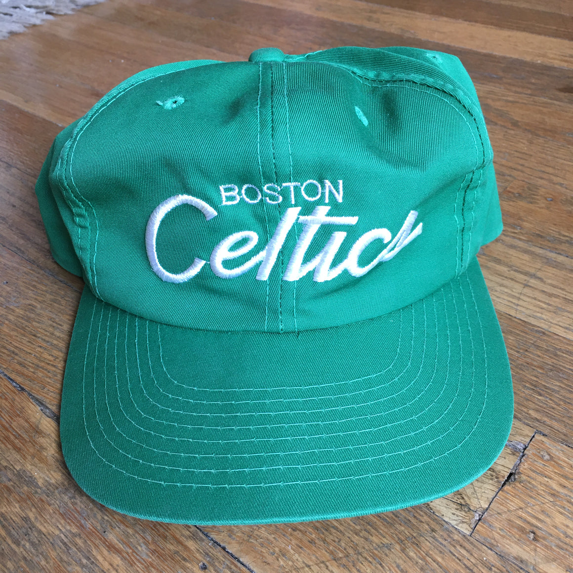 Boston Celtics script snapback hat