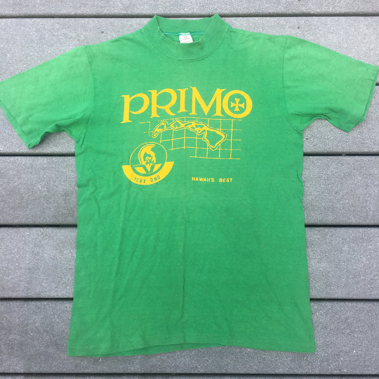 Early 80s Primo beer Hawaii shirt -  S / M