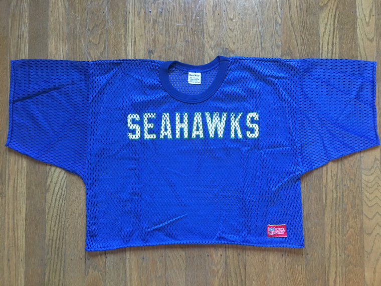 80s Seattle Seahawks MESH CROP jersey - L