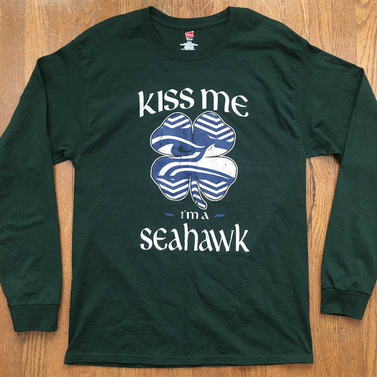 Seattle Seahawks Kiss Me I'm a Seahawk shirt - L