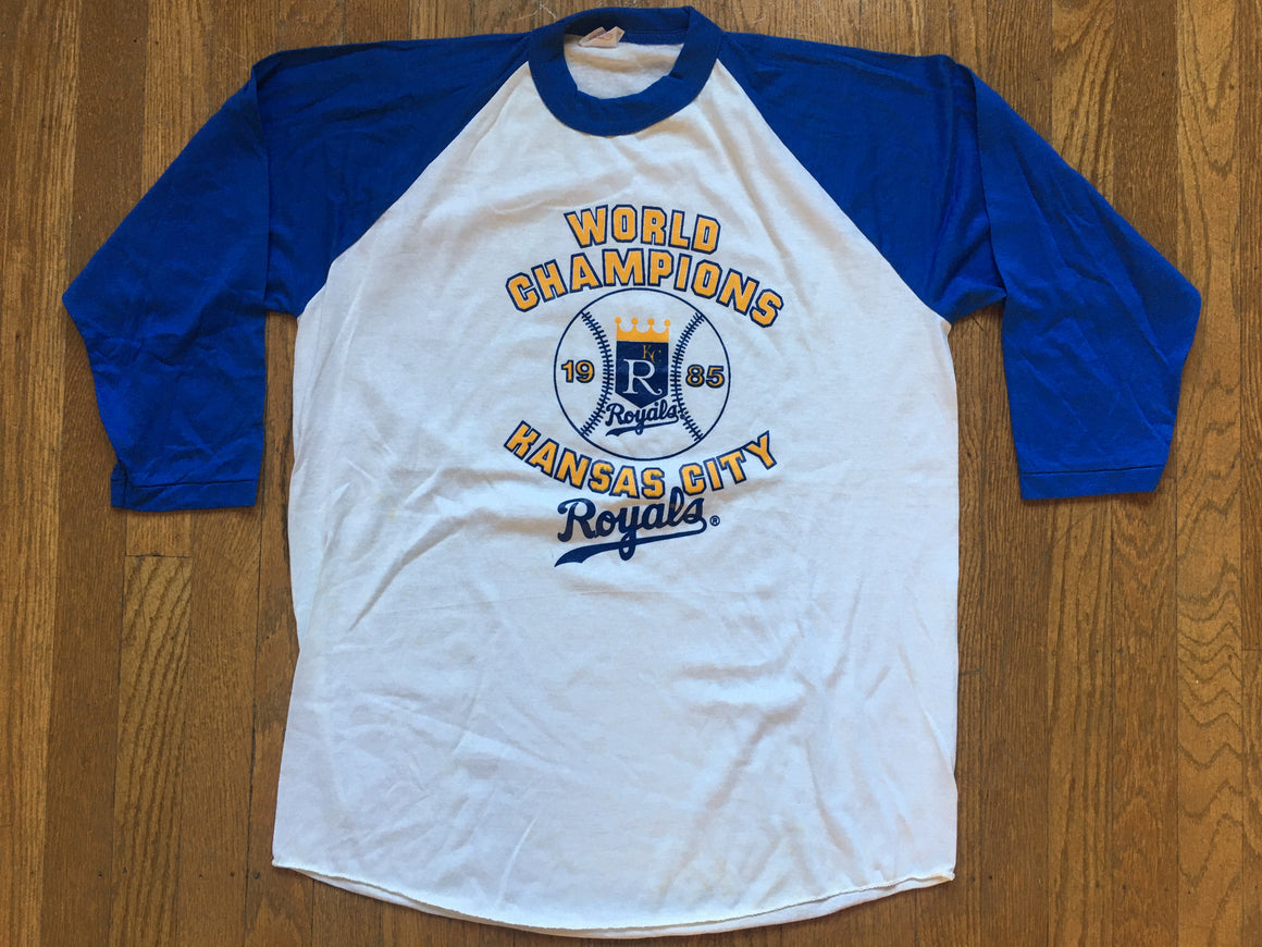 1985 Kansas City Royals World Champions shirt - L
