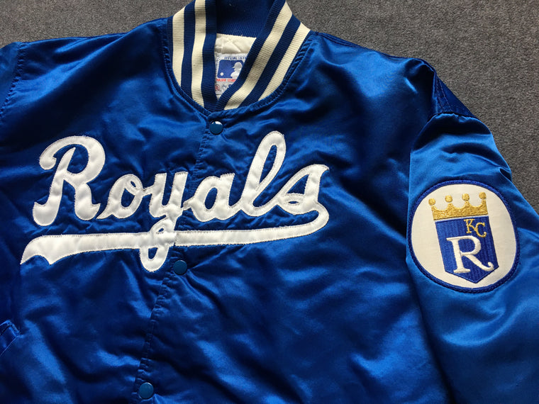 Vintage Kansas City Royals satin jacket - XL