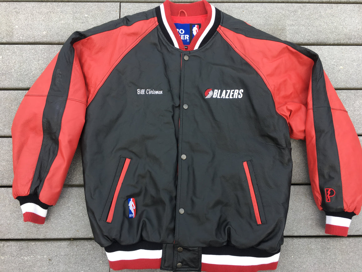 Vintage Portland Trailblazers leather jacket - L / XL