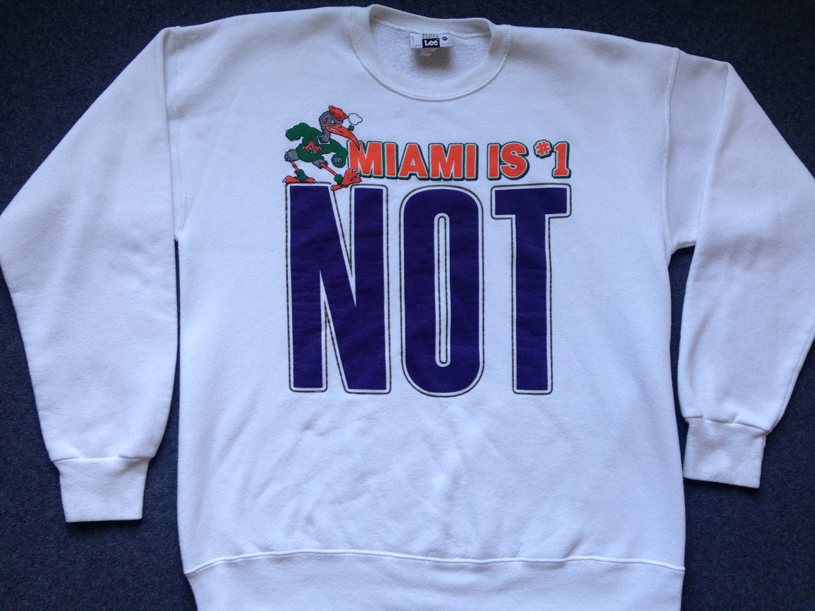 Washington Huskies #1 Miami NOT sweatshirt - XL