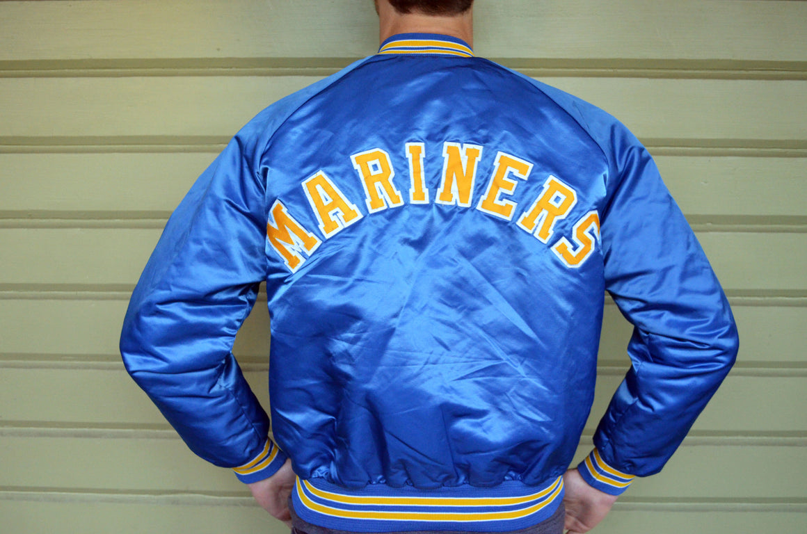 Vintage Seattle Mariners satin jacket by Chalk Line - L