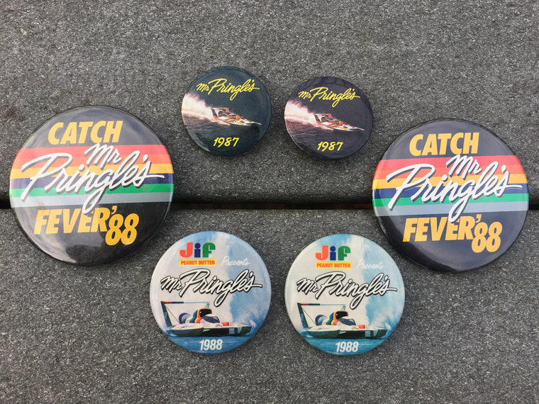 1987 & '88 Mr Pringle's buttons